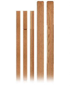 Clean Collection Wood Balusters and Newel Posts
