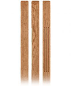 Clean Wood Newel Posts
