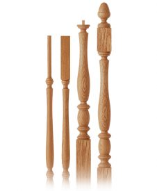LaSalle Collection Wood Balusters and Newel Posts