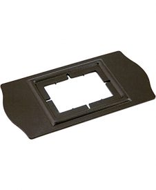 LI-PROPLT2: Rectangular Socket Cover Plate (Satin Black)