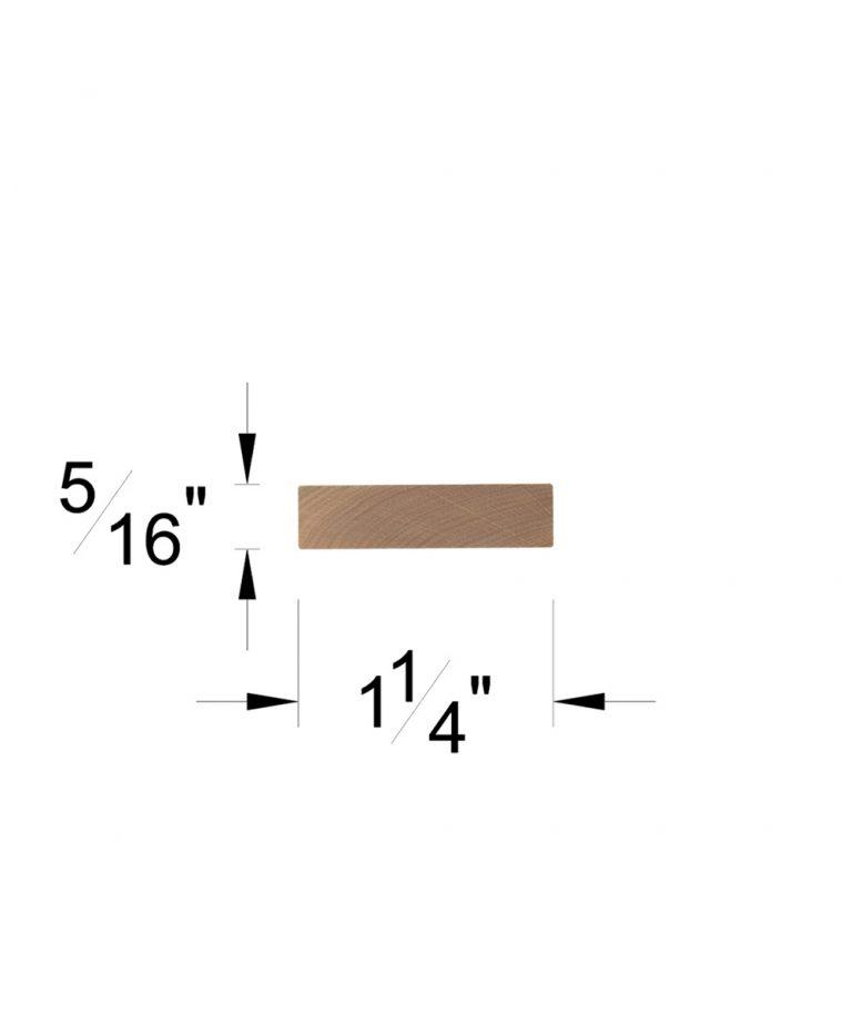 """LJ-6000F: 1 1/4"""" x 5/16"""" Rail Fillet Dimensions"""