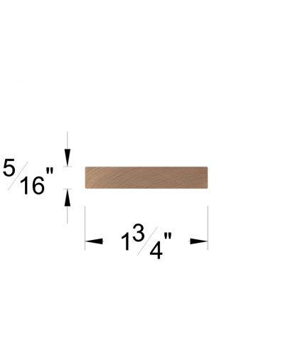 """LJ-6007: 1 3/4"""" x 5/16"""" Rail Fillet Dimensions"""