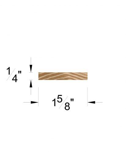 "LJ-6007-H: 1 5/8"" x 1/4"" Hemlock Rail Fillet Dimensions"