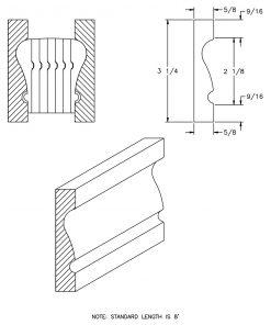 LJ-6010BM: Pine Bending Mould for LJ-6010B and LJ-6210B CAD Drawing