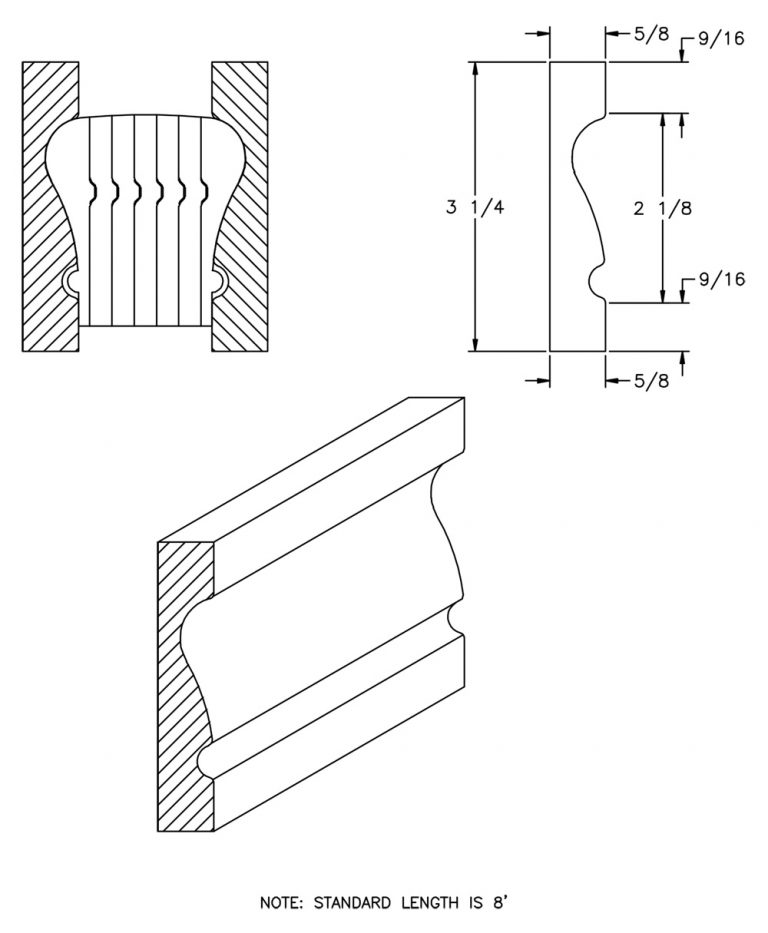 LJ-6010BM: Pine Bending Mould for LJ-6010B and LJ-6210B CAD Drawing
