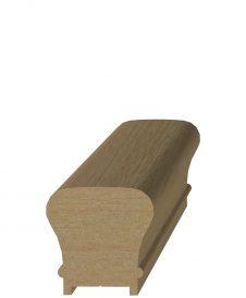 "LJ-6010P: 1 9/32"" Plow Hemlock Handrail"