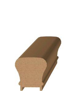 "LJ-6010P: 1 1/4"" Plowed Handrail & Fittings"