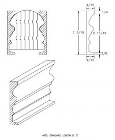 LJ-6519BM: Pine Bending Mould for LJ-6519B CAD Drawing