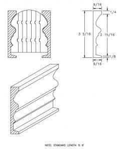 LJ-6519BM: Pine Bending Mould for LJ-6519B CAD Drawing
