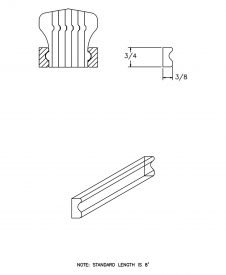 LJ-6601BM: Pine Bending Mould for LJ-6601B CAD Drawing
