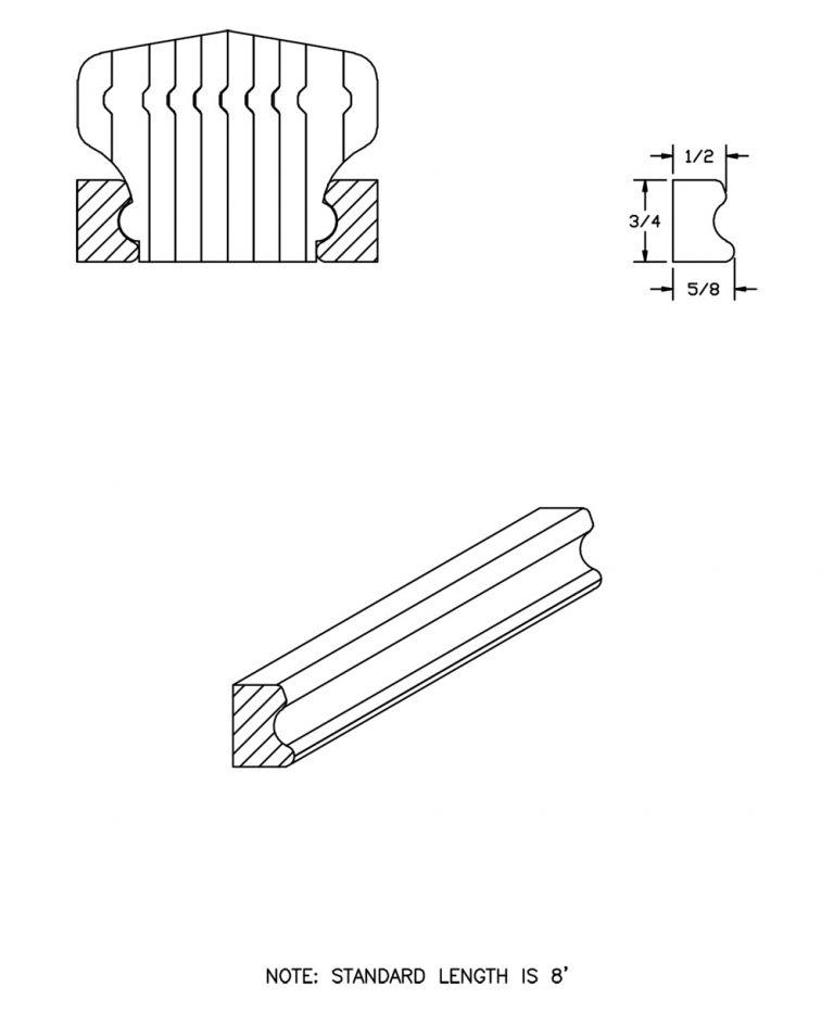 LJ-6701BM: Pine Bending Mould for LJ-6701B CAD Drawing