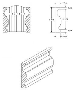 LJ-6900BM: Pine Bending Mould for LJ-6900B CAD Drawing