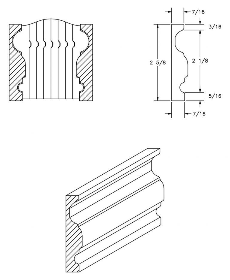 LJ-6900BM: Pine Bending Mould for LJ-6900B CAD Drawing