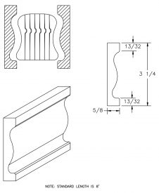 LJ-6A10BM: Pine Bending Mould for LJ-6A10B CAD Drawing