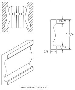LJ-6A10BM: Pine Bending Mould for LJ-6A10B CAD Drawing