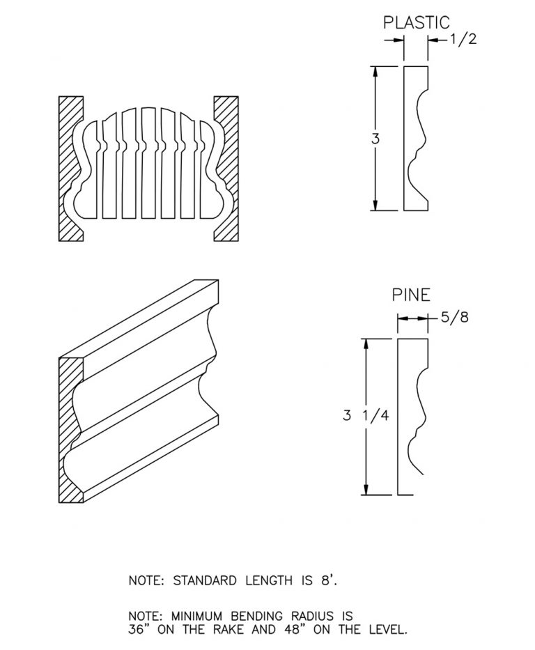 LJ-6B10BM-08: Polyvinyl Bending Mould for LJ-6B10B CAD Drawing