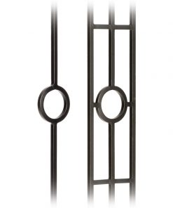 Hoop Collection 1/2 Inch Solid Square Iron Balusters