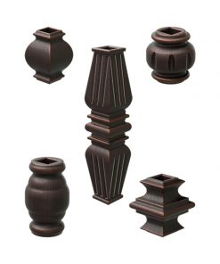 Baluster Knuckles for 1/2 Inch Square Metal Balusters