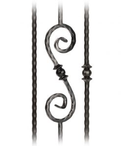 Pummel Collection 9/16 Inch Solid Hammered Edge Iron Balusters