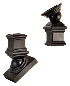 "LI-PROKNE: 1/2"" IronPro Kneewall Kit Iron Baluster Fastener (Satin Black)"
