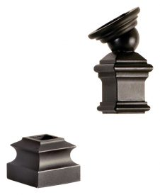"LI-PROLVL: 1/2"" IronPro Level Kit Iron Baluster Fastener (Satin Black)"