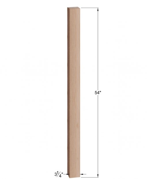 "HF4000: 3 1/4"" Square Post Dimensions"