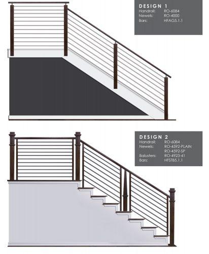 Horizontal Railing Design Samples 1