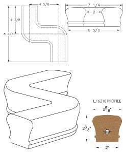 LJ-7248: Conect-A-Kit Right Hand S Fitting / Offset for LJ-6210 Handrail CAD Drawing