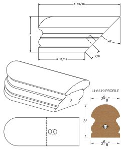 LJ-7509: Conect-A-Kit Returned End for LJ-6519 Handrail CAD Drawing