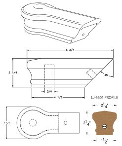 LJ-7619: Conect-A-Kit Opening Cap for LJ-6601 Handrail CAD Drawing