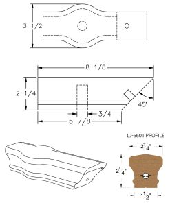 LJ-7620: Conect-A-Kit Tandem Cap for LJ-6601 Handrail CAD Drawing