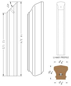 LJ-76RD: Conect-A-Kit Rail Drop for LJ-6601 Handrail CAD Drawing