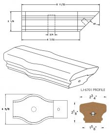 LJ-7720: Conect-A-Kit Tandem Cap for LJ-6701 Handrail CAD Drawing