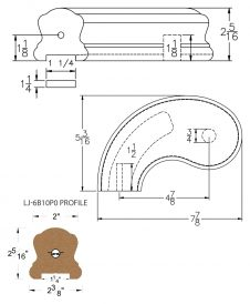 "LJ-7B40P0: Conect-A-Kit 5"" Left Hand Turnout for LJ-6B10P0 - 1 1/4"" Plowed Handrail CAD Drawing"