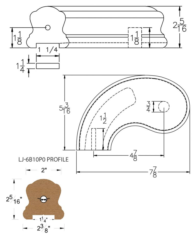 """LJ-7B40P0: Conect-A-Kit 5"""" Left Hand Turnout for LJ-6B10P0 - 1 1/4"""" Plowed Handrail CAD Drawing"""