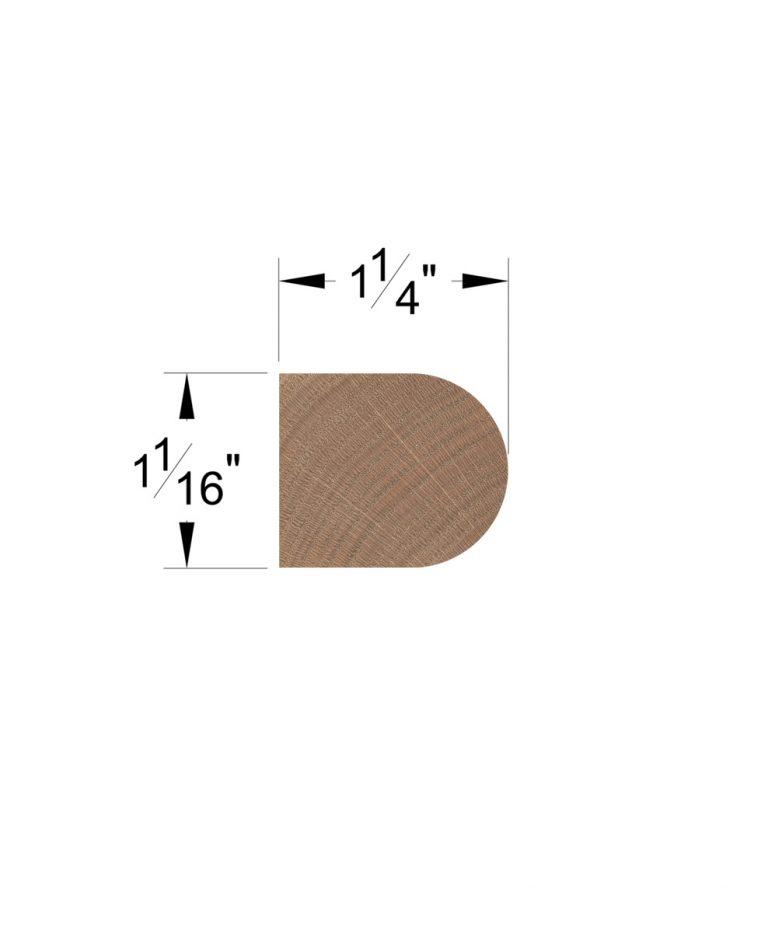 """LJ-8080-13: 13"""" Tread Return Dimensions"""