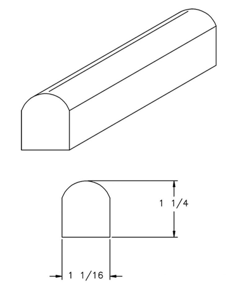 LJ-8080: Tread Nosing CAD Drawing
