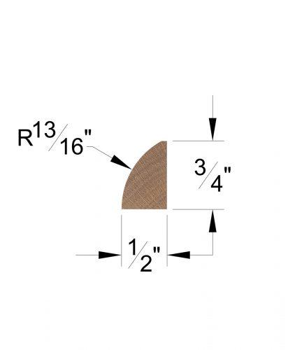 LJ-8422: Shoe Moulding Dimensions