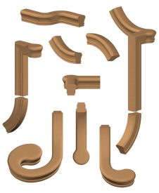 Conect-A-Kit Wood Handrail Fittings