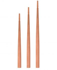 "OP-2200-175-F1: 1 3/4"" Fluted Taper-Top Baluster"