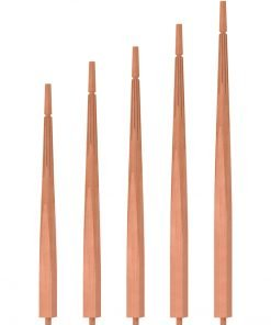 "OP-2200-5L-175-F1: 1 3/4"" Fluted Taper-Top Baluster"