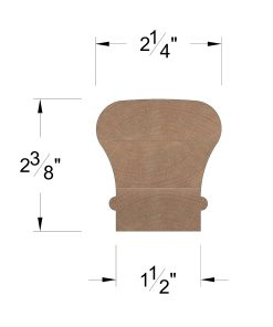 LJ-6010: Finger-Jointed Handrail Dimensions