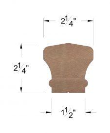 LJ-6601SC: Solid Cap Handrail Dimensions