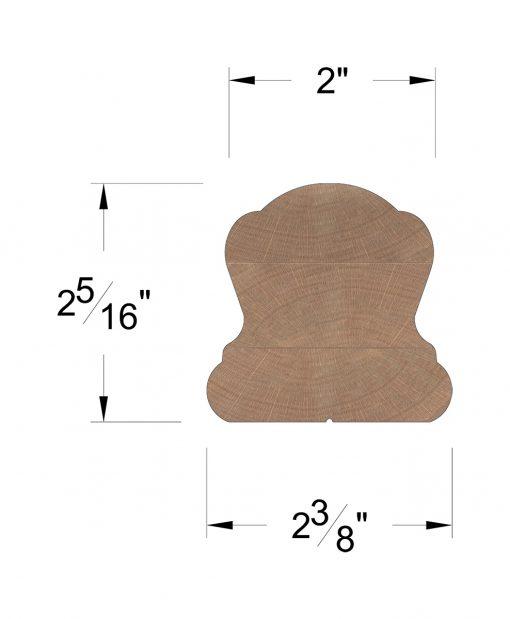 LJ-6B10: Finger-Jointed Handrail Dimensions