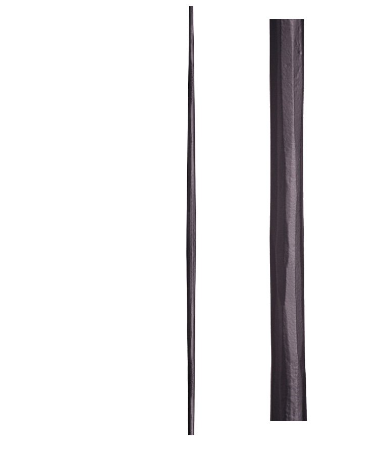 "HF2.6.8: Tuscan 9⁄16"" Hand Forged Solid Round Iron Tapered Baluster"
