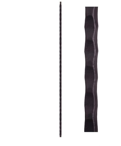 "HF2.9.20-T: Tuscan 9⁄16"" Hand Hammered Hollow Square Iron Baluster"