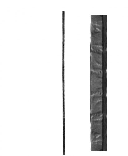 "HF3.2.1: Wentworth 5/8"" Rustic Hammered Solid Square Iron Baluster"