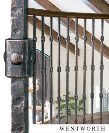 Wentworth Solid Square Iron Balusters and Newels