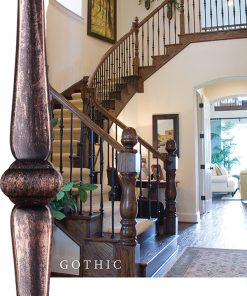 Gothic Solid Iron Balusters and Newels