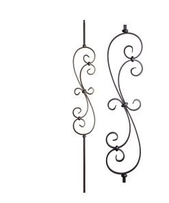 "HF16.1.25: Versatile Series 1/2"" Solid Square Iron Large Scroll Baluster"